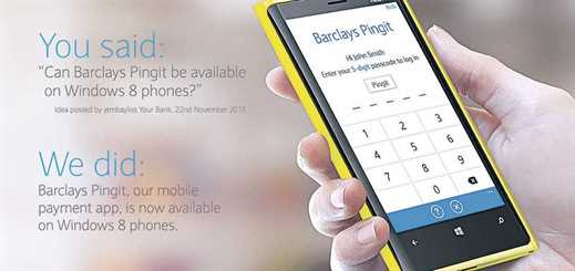 Barclays Bank brings Barclays Mobile Banking and Pingit apps to Windows