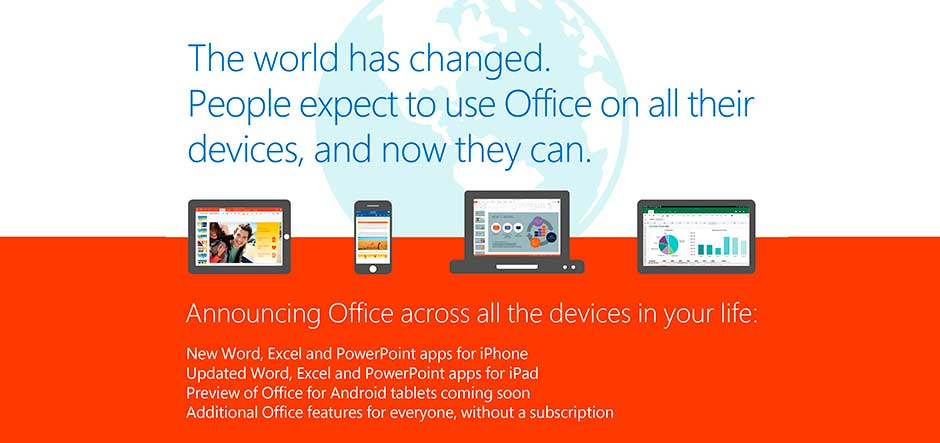 Microsoft Office is now free for iPhones, iPads and Android