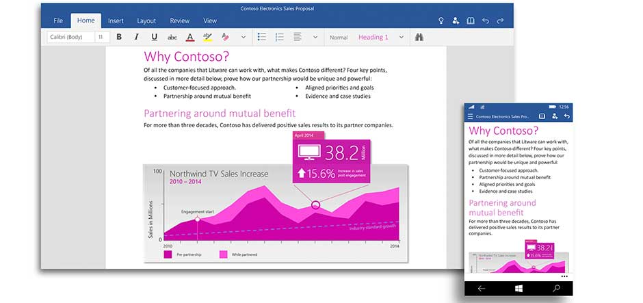 Microsoft makes Office apps available in Windows 10 technical preview