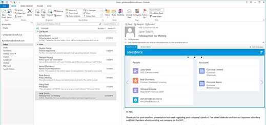 Salesforce App for Outlook launches in beta