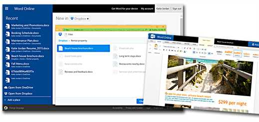 Office Online and Dropbox web integration now available