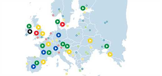 Interactive map highlights Microsoft cloud implementations across Europe