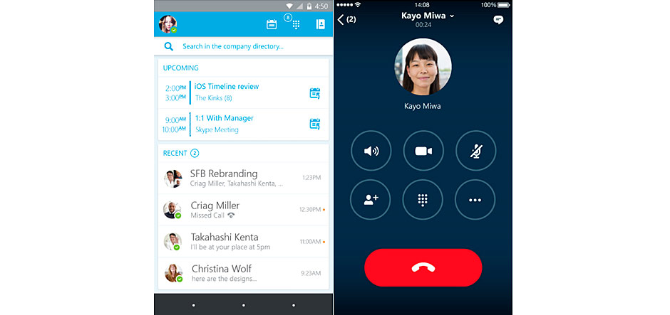 Skype for Business iOS and Android apps now available in preview