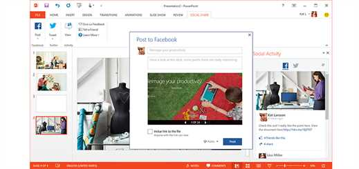 New Social Share feature in PowerPoint for enhanced interactivity