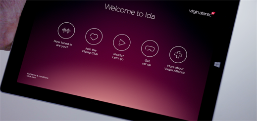 Virgin Atlantic launches new Ida app based on Windows 10