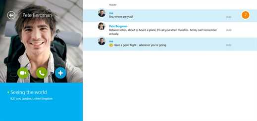 Updates to Skype for modern Windows benefits mouse and keyboard users