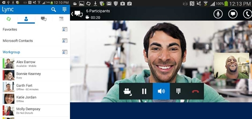 New Lync app for Android update enables tablet support