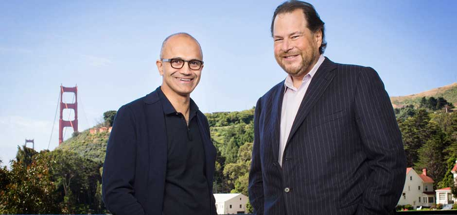 Microsoft announces partnership with competitor Salesforce