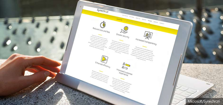 Synechron launches blockchain apps on the Microsoft Azure Marketplace