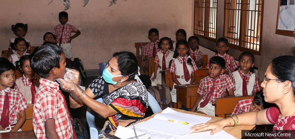 Microsoft Cloud brings healthcare to India's classrooms