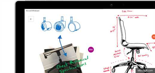 Microsoft previews new collaborative whiteboard app