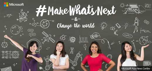 Microsoft launches #MakeWhatsNext for International Women's Day