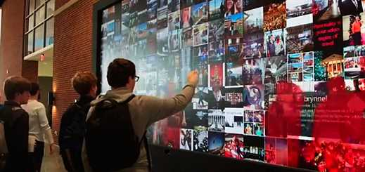 Media wall helps increase engagement at Liberty University library