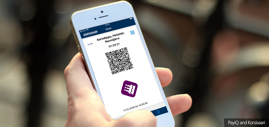 Korsisaari chooses PayiQ to help create mobile ticketing app