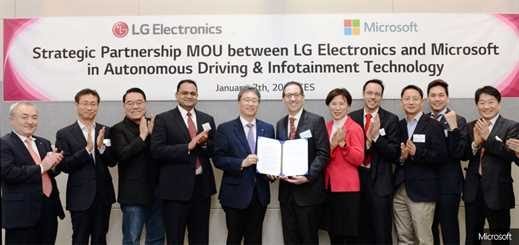 LG partners with Microsoft to help it advance autonomous vehicles