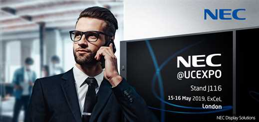 NEC Display Solutions to showcase at UC Expo