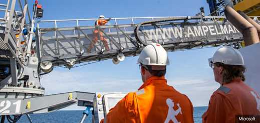 OrangeNXT and Ampelmann help offshore workers walk across the sea