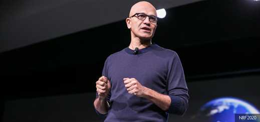 Satya Nadella opens NRF 2020 with keynote on tech in retail
