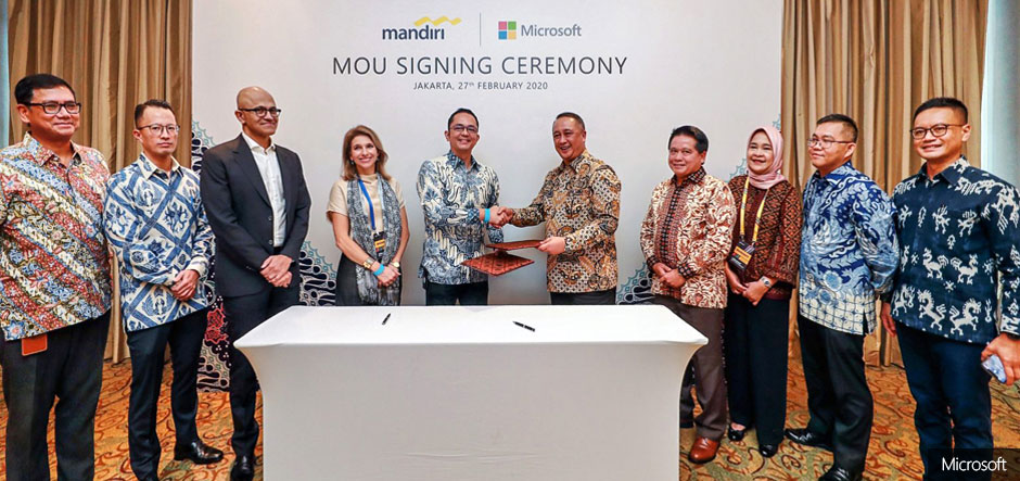 Bank Mandiri adopts Microsoft cloud and AI