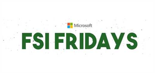 Microsoft FSI Fridays: technology webcast series