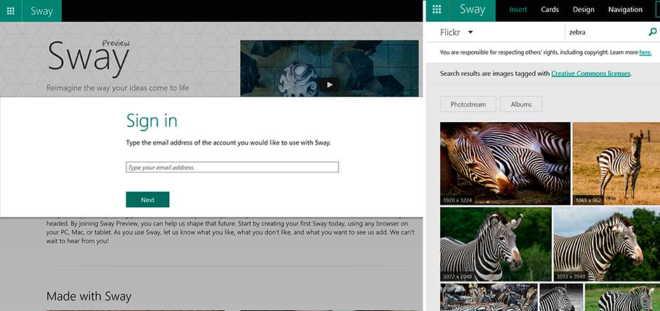 Microsoft rolls Sway out to Office 365 business and