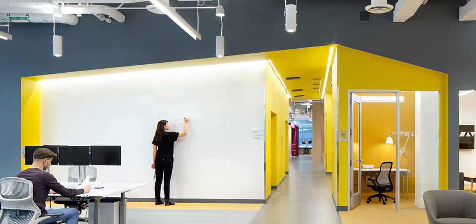 Microsoft offices design Experiential Technology Record New Microsoft Vancouver Offices Boast Ultramodern Design