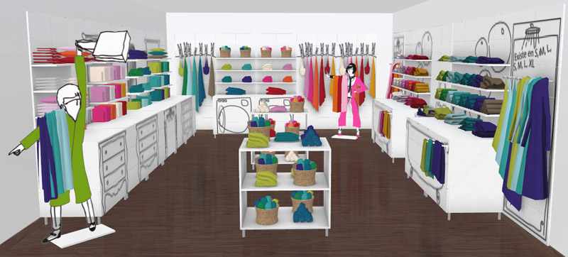Planning in store layouts in 3D